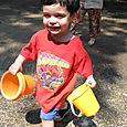 Max Comes Bearing Buckets