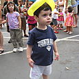Max with Balloon Hat at the Oakhurst Festival