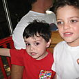 Max and Josh on the Train Ride at the Zoo