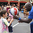 Josh and Max Spinning Ball with Harlem Globetrotter