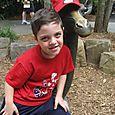 Josh and his faux kangaroo friend