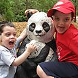 "Max, Josh and their ""panda"" friend"