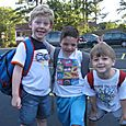 First day of camp!  Noah, Josh and Ethan