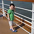 Max watching the ship set sail