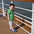 Max watching the ship set sail