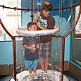 Josh and Sam try to create a six foot bubble at a Science Museum in Nova Scotia