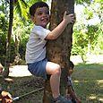 Max pretending to climb a tree