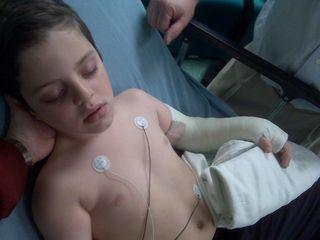 Josh sedated