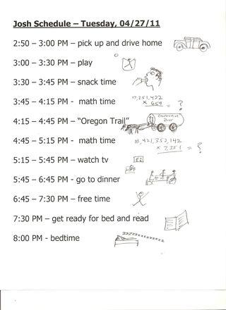 Poppys josh schedule