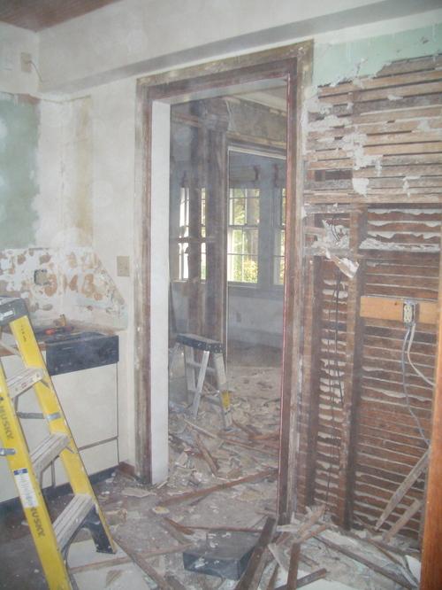 Demo begins, part I:  the kitchen
