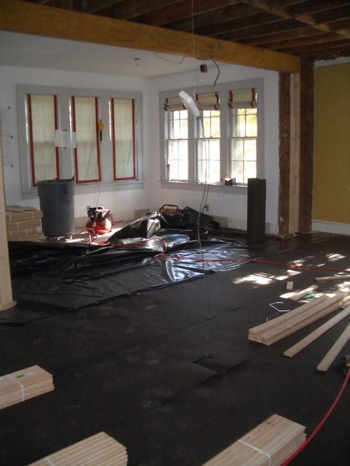 Getting ready for new hardwood floors