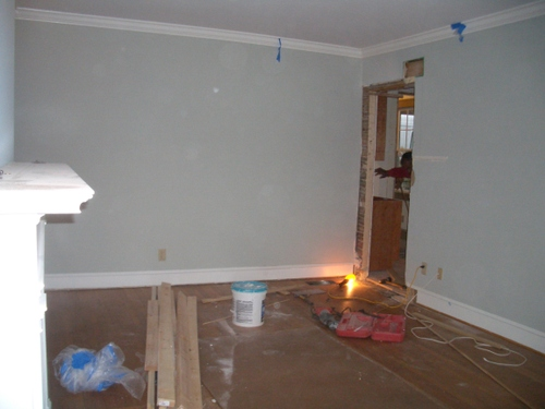 A door between the dining room and kitchen/great room is created