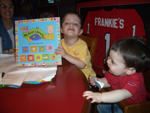 Max Got a Present, Which Josh Gracefully Opened for Him