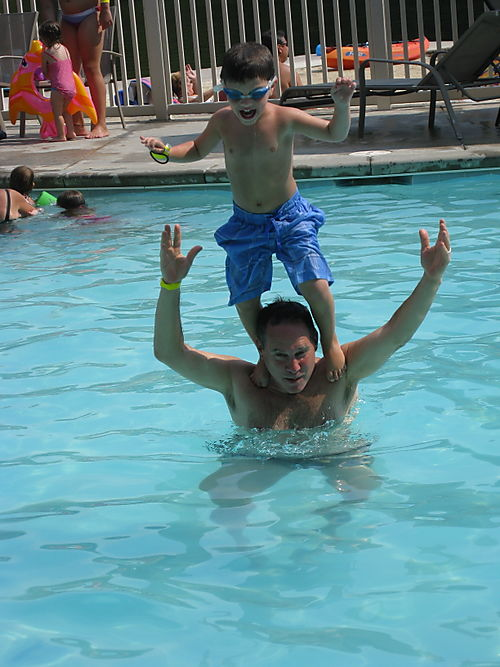 Josh Jumping Off Gregg